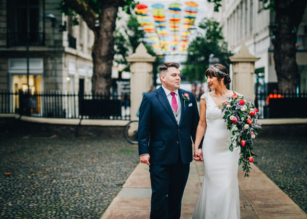 Bright Shower Bouquet at Bluecoat Chambers Wedding