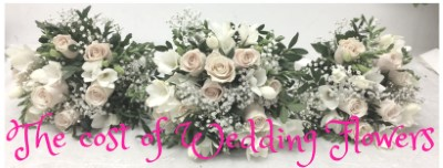 The Cost of Wedding Flowers for Bridal Party Church Venue and Wedding Reception