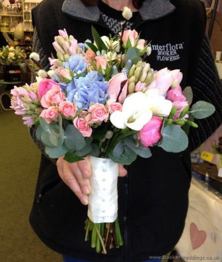 Wedding flowers liverpool merseyside bridal florist booker save pink and blue semi wild informal wedding flowers hand tied bridal mightylinksfo