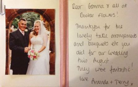 Wedding Flowers Liverpool, Merseyside, Bridal Florist,  Booker Flowers and Gifts, Booker Weddings | Amanda & Terry