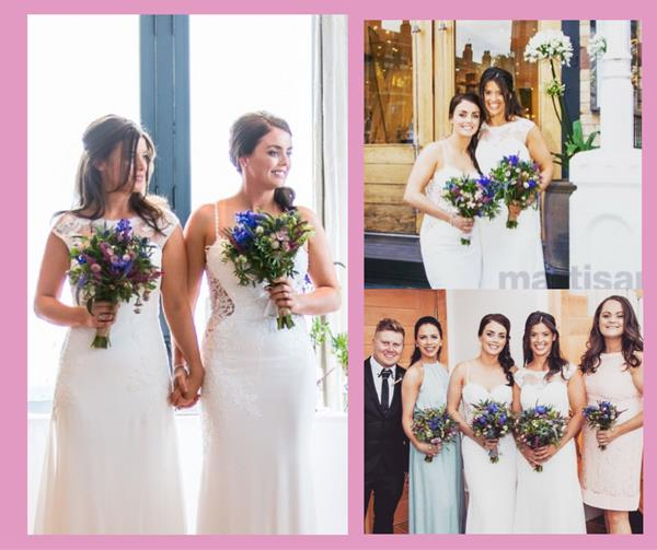 Wedding Flowers Liverpool, Merseyside, Bridal Florist,  Booker Flowers and Gifts, Booker Weddings | Lucy and Natalie