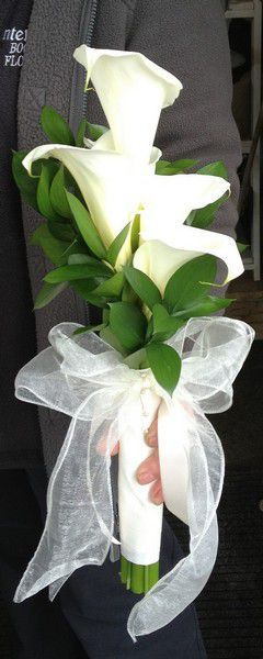 Formal Over Arm Wedding Bouquet of Calla Lilies