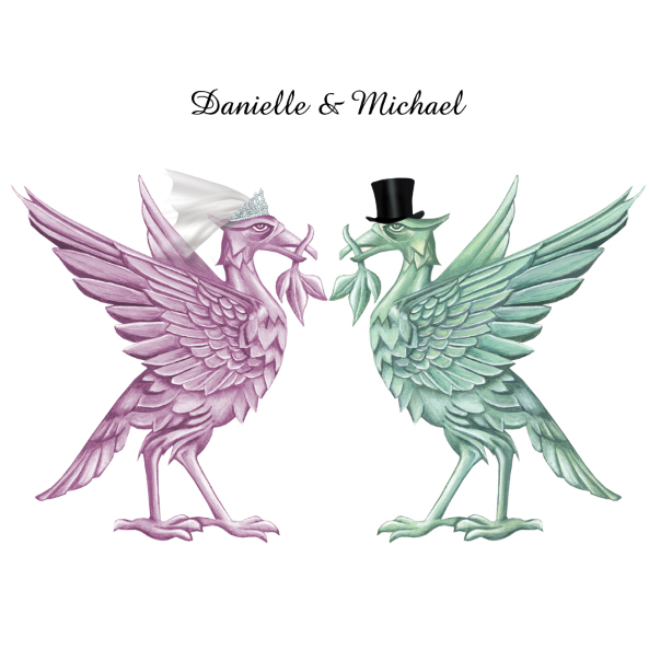 Liver Bird Wedding Invite