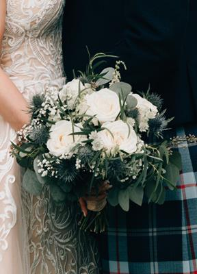 Wedding Flower Liverpool - Scottish Theme Bouqeut