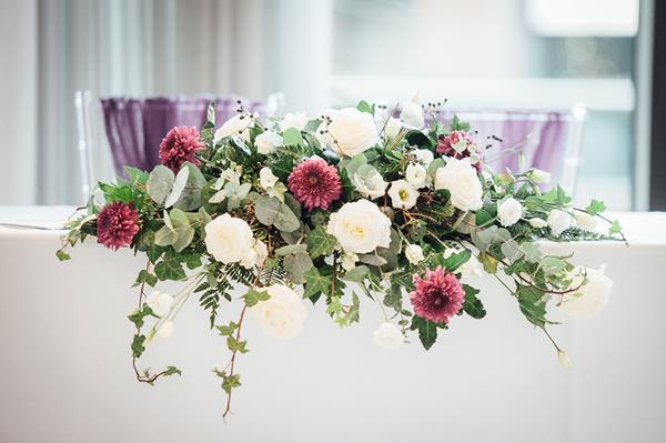 Wedding Flower Top Table Arrangement